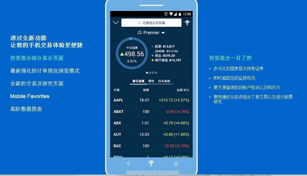 Firstrade第一证券中文手机交易端为华人提供便利